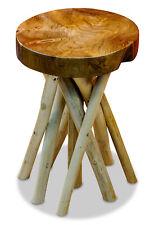 Side Table Wood Round Teakwood Table Stool Teak Wood Solid Wood Flower Stand