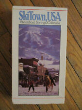 vtg 80s STEAMBOAT SPRINGS COLORADO SKITOWN USA VHS Travel Tourism Video Tape '88