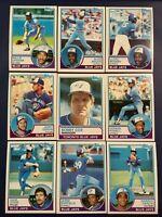 1983 Topps TORONTO BLUE JAYS Complete Team Set 24 BARFIELD, STIEB Sharp LOOK !