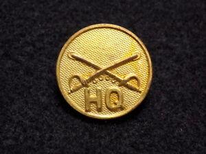 WWI US Army Regimental Cavalry HQ Collar Disc