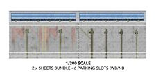 1/200 SCALE MODEL AIRPORT LAYOUT PARKING SLOTS BUNDLE WITH BACK SCENE