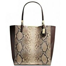 Nwt Coach 28294 Madison Embossed Python North South Tote Bag Purse