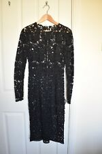 Dolce & Gabbana (D&G) Midi Black Lace Crochet Dress (Size XS)