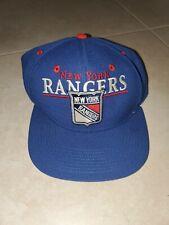 Vintage 90s CCM New York Rangers Snapback Hat