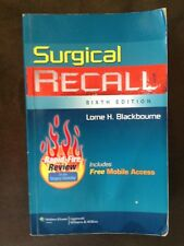 Surgical Recall - Sixth Edition. Recall Series L.H. Blackbourne Medical Medicine