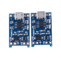 2Pcs/set 5V Micro USB 1A 18650 Lithium Battery Charging Board Charger Module QP