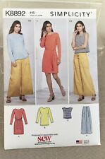 Simplicity BN  sewing Pattern size UK 8-16 Dress, Tunic, Top, Trs. Knits
