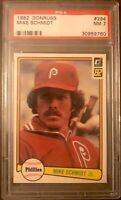 1982 Donruss #294 Mike Schmidt PSA 7 Near Mint Condition Philadelphia Phillies