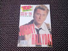 "Johnny Hallyday ""Top Secrets""  n°29  1992 (Poster JH en Moto)"