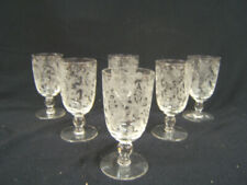 "Viking New Martinsville Glass Co ""Prelude"" Juice Glasses Set of 6 VGC"