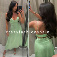 ZARA WOMAN NWT SS20 SALE! SATIN DRESS WITH CUT-OUT DETAIL ALL SIZES 2583/338