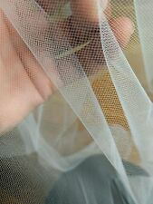 IVORY & WHITE - SOFT TULLE MESH FABRIC MATERIAL - WEDDING DRESSES - 300CM WIDE*