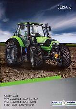 Deutz Fahr 6 Series 2015 catalogue brochure tracteur Traktor tractor Agrotron
