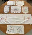 lot+7+vtg+doilies+cross+stitch+floral+Sleeves+Linen+Cotton