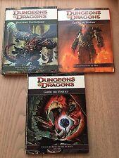 Dungeons & Dragons Lot Bestiaire Fantastique Guide Du Maître Écran