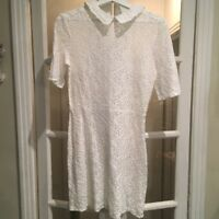 Authentic The Kooples White Lace Dress Size 3
