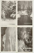Lot of 4 Stillman Powers Postcards Boston, Ma 1922 Antique Real Photo Minot, Ma