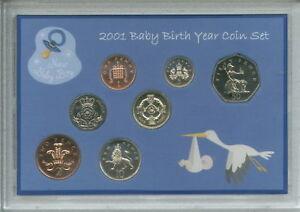 New Born Baby Boy Coin Gift Set 2001 (Parent Mum & Dad Birth Keepsake Present)