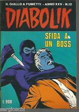 DIABOLIK ORIGINALE ANNO XXV  n° 12-  1986- RARO - OTTIMO- [ rif YY ]