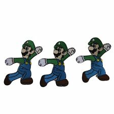Super Mario Brothers Series Luigi Jumping Embroidered Patch Set of 3