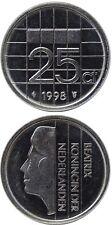 NIEDERLANDE/NETHERLANDS 25 Cents 1998 AUNC (KM# 204) 'Beatrix'