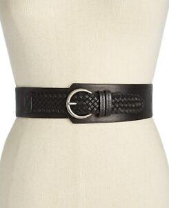 INC International Concepts Women's Asymmetrical Woven Stretch Belt