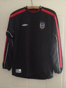 England Vintage Football Shirt Goalkeeper 2001/2003 Retro Soccer Jersey Umbro