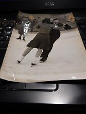 SKATERS WIMBLEDON COMMON 1946     ORIG POST WW2 ERA PRESS PHOTO