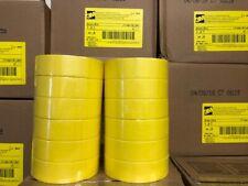 "3M 06654 MASKING TAPE 1.5"" YELLOW 1'1/2"" (12 Rolls) 6654 (36mm x 55m) 2 sleeves"