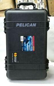 Pelican 1510 Watertight Camera Carry On Hard Case w Foam Insert Wheels - Black