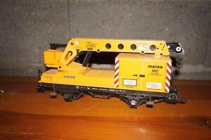 RF5] LGB Eisenbahn Kranwagen Matra 4042 Spur G in Ersatzverpackung