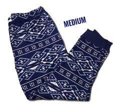 Medium LuLaRoe Jax Jogger pants Blue White Aztec Tribal Beautiful