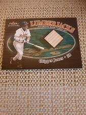 2000 Fleer Tradition Lumberjacks Game Used Bat Card Chipper Jones 005/725