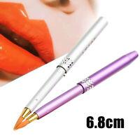 Portable Retractable Lip Brush Makeup Cosmetic Lipstick Gloss Travel Tool USA