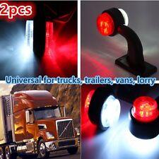 2x LED Truck Trailer Lorry Van Side Marker Lamp Indicator Light Red White - NEW