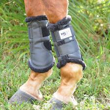 DSB Original Dressage Sport Boots - Medium Pair - Black with Black Fleece Lining