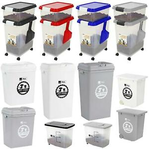 Airtight Plastic Pet Food Storage Containers Bin Dry Feed Animal Dog Cat Bird