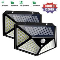 LED Solar Power PIR Motion Sensor Wall Light Outdoor Garden Lawn Lamp Waterproof