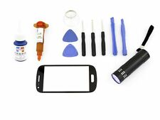 Cristal para Samsung Galaxy S3 Mini Negro Pantalla Táctil UV Loca 5ml Set