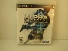 ALPHA PROTOCOL The Espionage RPG (Sony Playstation 3, 2010) COMPLETE / MINT