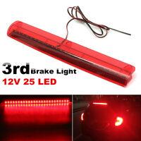 Universal 12V 25 LED High Mount Level Third 3RD Brake Stop Rear Light Tail