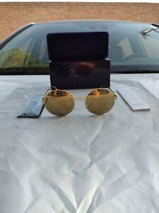 MYKITA Sonnenbrille Janis F9-Gold Flash Rund Linsen