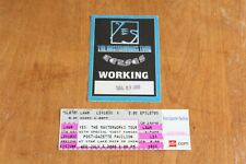 YES - Ticket + Backstage Pass - FREE SHIPPING