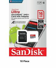 10 Pcs (10x) SanDisk Ultra 16GB Micro SD Memory Card 98MB/s SDHC TF Class 10
