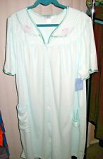 NWT Adonna Sleepwear Women's Nightgown, Short Sleeve XXL Big Pockets Comfy 2XL