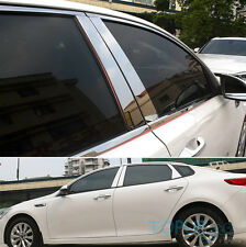FIT FOR 2016- KIA OPTIMA WINDOW CHROME PILLAR POST COVER LID TRIM MOLDING BEZEL