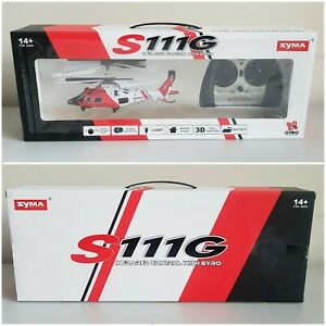 Syma S111G 3.5CH IR Control Indoor Mini RTF Agusta RC Helicopter Infrared Gyro