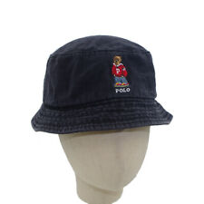 Bucket Unisex Black Hat Embroidery Bear Casual Cap Outdoor Sport School Unisex