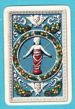 1 Single Swap Playing Card Baby Angels Fruit Design Wide Vintage Antique