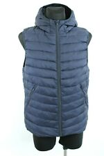 SCOTCH & SODA BNWT Navy Blue Hooded Zip Up Men Quilted Gilet Size L
